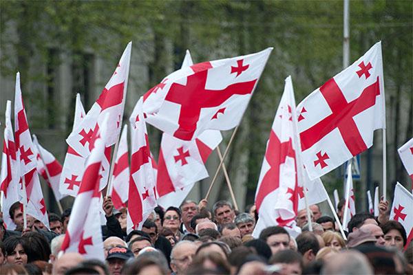 Сторонники ЕНД вышли на массовый митинг в Тбилиси